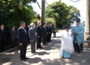 松澤熊野神社大鳥居建て替え 起工式