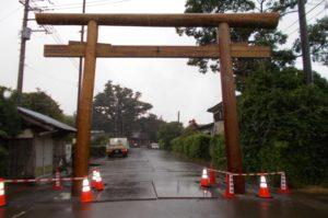 松澤熊野神社大鳥居建て替え 設置